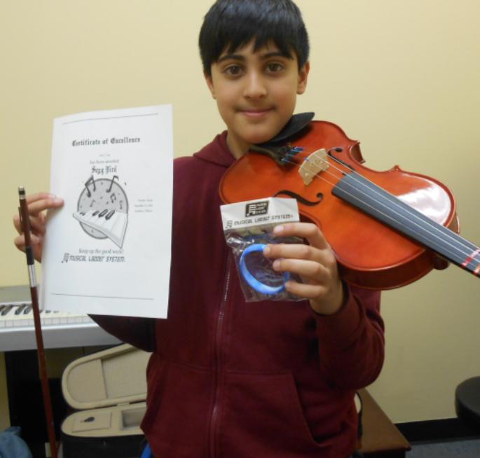 Violin Lesson Student